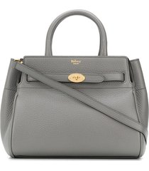 mulberry small belted bayswater tote - grey