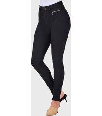 jeans pitillo tiro alto negro amalia jeans