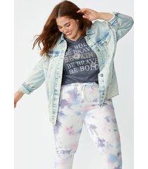 maurices plus size womens light wash oversized boyfriend blue denim jacket