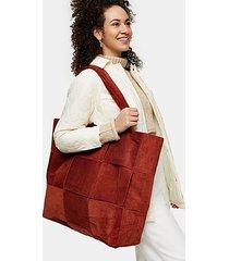 rust corduroy weave large tote bag - rust