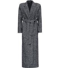 federica tosi long herringbone wool coat with belt