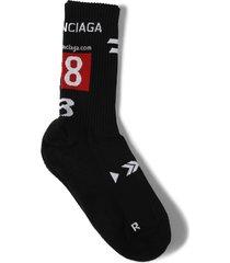 gamer tennis socks black