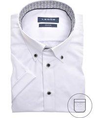 korte mouwen overhemd ledub strijkvrij wit