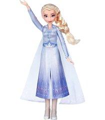disney frozen singing elsa fashion doll with music wearing blue dress inspired by disney frozen 2 movie