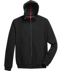 awearness kenneth cole awear-tech modern fit hooded jacket black