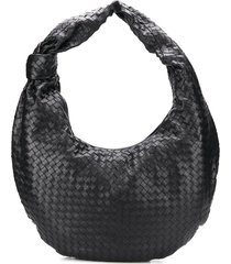 bottega veneta maxi bv jodie shoulder bag - black