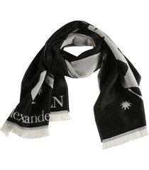 alexander mcqueen mystical oversize skull scarf