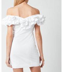 de la vali women's la paz cotton dress - white - uk 12