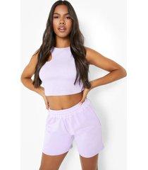 overdye pastel sweat shorts, lilac