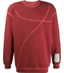a-cold-wall* distressed oversize sweatshirt - red
