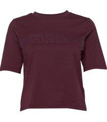 w bounce printed tee t-shirts & tops short-sleeved röd peak performance