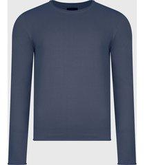 sweater d/struct jumper azul - calce regular