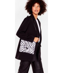 womens want don't blend in zebra crossbody bag - black