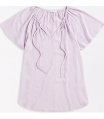 maurices womens lilac flutter sleeve blouse purple