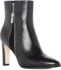 paige cami snake texture booties, size 10.5 in black at nordstrom