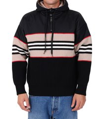 burberry striped wool and cashmere hoodie