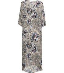 dress in garden print - ecovero len maxiklänning festklänning multi/mönstrad coster copenhagen