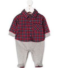 lapin house flannel-panelled pajamas - grey
