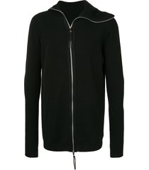 boris bidjan saberi zip-up cashmere hoodie - black