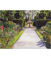 "david lloyd glover fountain green canvas art - 37"" x 49"""