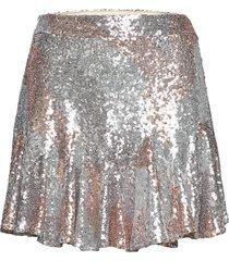 cleo skirt kort kjol silver ravn
