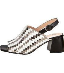 sandaletter gerry weber vit::silverfärgad::svart