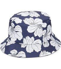lulla collection by bindya women's tropical flower bucket hat - navy