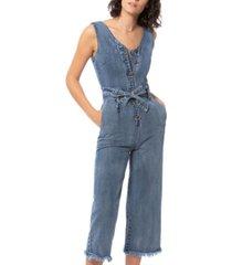 lola jeans denim jumpsuit
