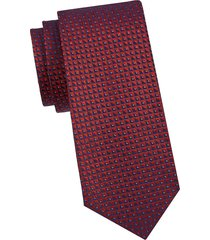 armani collezioni men's printed silk tie - red