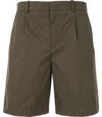 a.p.c. terry tailored shorts - green