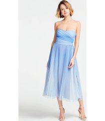 plisowana sukienka bez rękawów