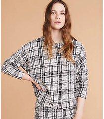 lou & grey textured plaid sweatshirt