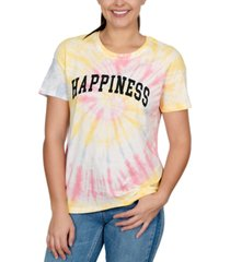 rebellious one juniors' happiness graphic-print t-shirt