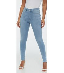 gina tricot molly high waist jeans skinny light blue