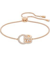 swarovski crystal interlocking loops slider bracelet