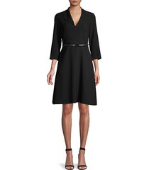 elie tahari women's elodie belted dress - black - size 10