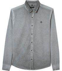 camisa john john jason dark gray cinza masculina (cinza chumbo, gg)