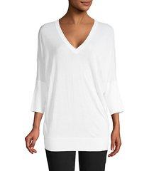 v-neck cashmere & silk-blend sweater