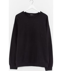 womens where there's a chill oversized sweatshirt - black