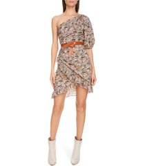 women's isabel marant etoile esthera paisley one-shoulder dress, size 4 us - white