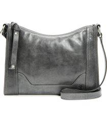 frye melissa leather crossbody bag - grey