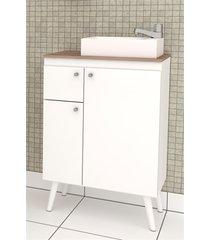 gabinete em mdp itaúna 87x59,6cm branco e tamarindo