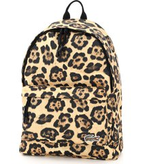 lacoste backpack with jaguar print