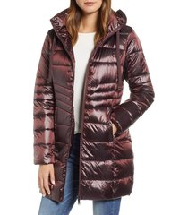 women's sam edelman hooded down coat, size x-large - red