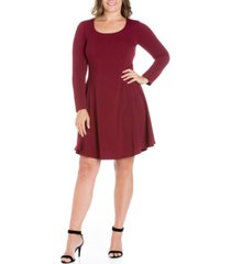 women's plus size fit and flare skater dress