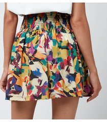 kenzo women's printed short flared skirt - khaki - eu42/uk12