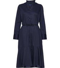 d1. tp frill shirt dress jurk knielengte blauw gant