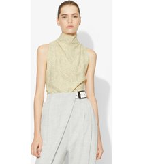 proenza schouler painted palm halter top butter/taupe painted palm/yellow 2