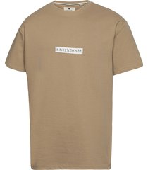 akarne boxy sweat t-shirts short-sleeved beige anerkjendt