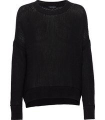pullover long sleeve stickad tröja svart marc o'polo